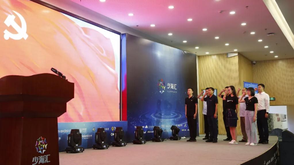 建党99周年 平博pinnacle汇举行全体党员宣誓仪式