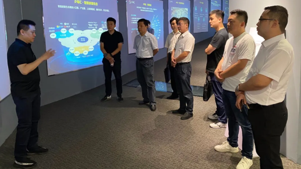 河南政府客人到访平博pinnacle汇,装配式产业及物联网智能场景应用受关注